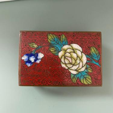 Vintage Chinoiserie Enamel Decorative Matchbox by CaminoCollective