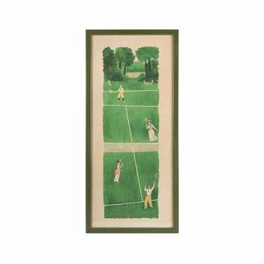 1973 Richard Howard Print on Paper Tennis by VintageInquisitor