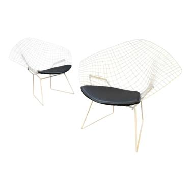 """Pair of Vintage Mid Century Modern """"Diamond"""" Chairs by Harry Bertoia for Knoll by AymerickModern"""