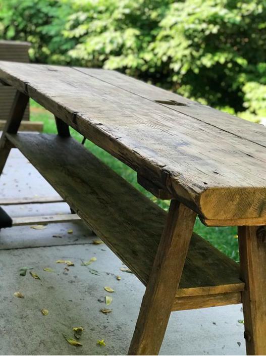 European Raw Wood Table