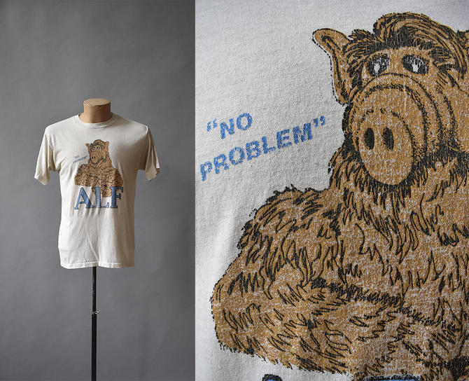 Vintage Tshirt / 1980s Tee / Alf Tshirt / Pop Culture 1980s / 80s Tv / Alf / Soft Vintage Tee by milkandice