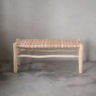 Moroccan Leather Bench by CangguHome