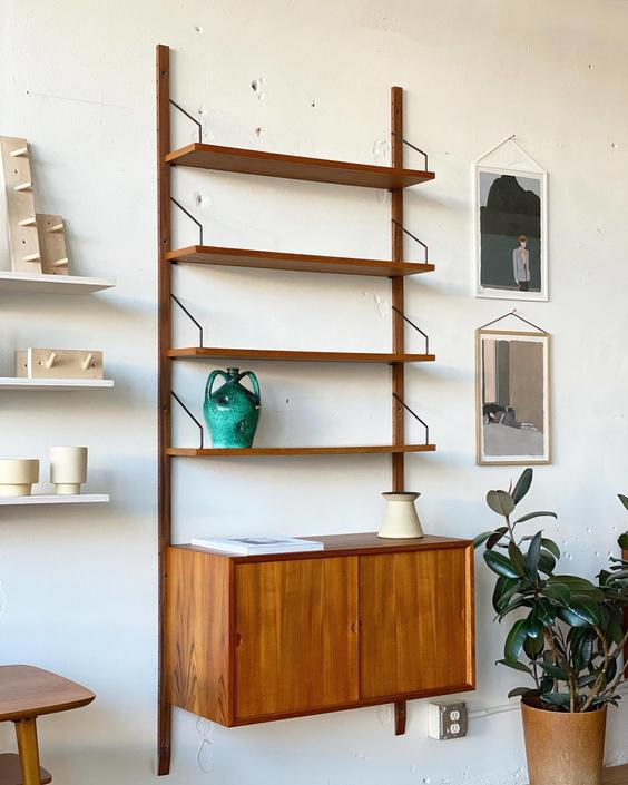 Single Bay Wall Unit Designed by Poul Cadovius
