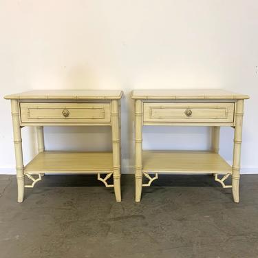 Ready for customization Thomasville Allegro Bamboo Fretwork nightstands by McKennaDesignCompany