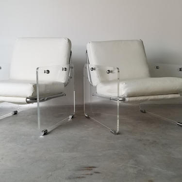"""Pace Collection """"Argenta"""" Style Lounge Chairs - a Pair. by MIAMIVINTAGEDECOR"""