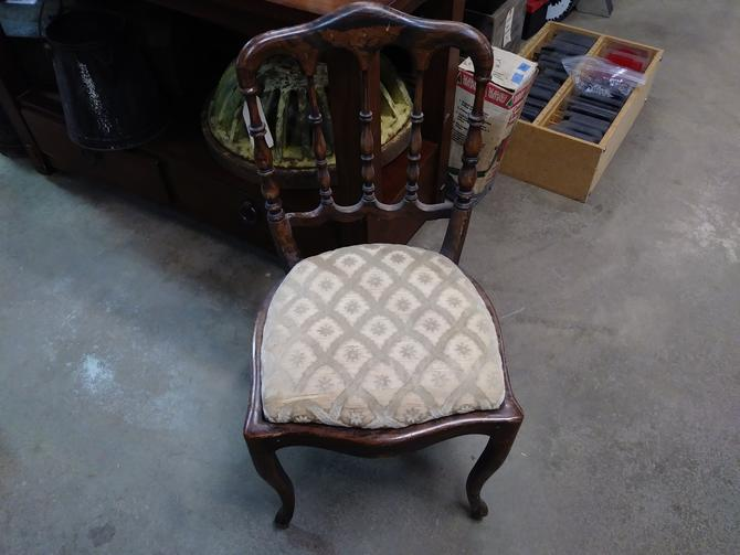 Petite wooden chair