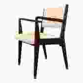 Jens Risom Walnut Armchair from 1950s