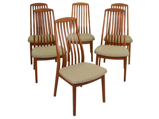 Set of 6 Mid Century Dining Chairs by Benny Linden by RetroPassion21