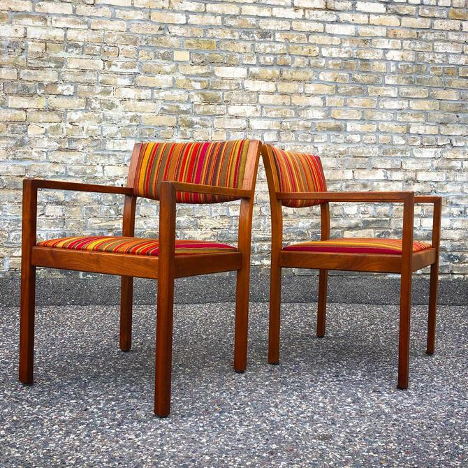 Walnut Frame Gunlocke Chairs