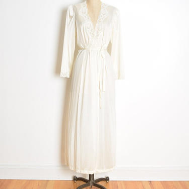 vintage OLGA peignoir cream nylon lace bed jacket robe nightgown lingerie 94280 L by huncamuncavintage