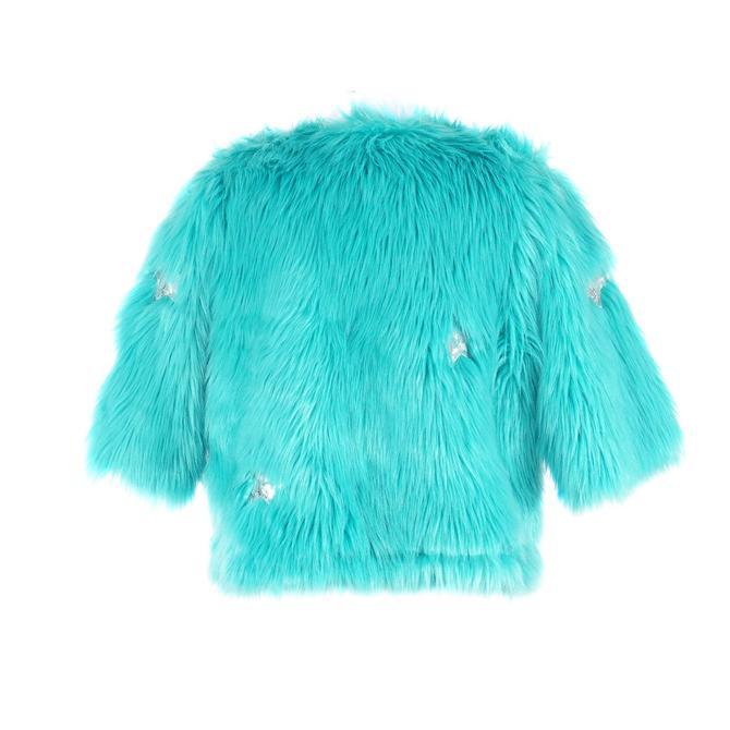Blue Stars Faux Fur Jacket by jennafergrace