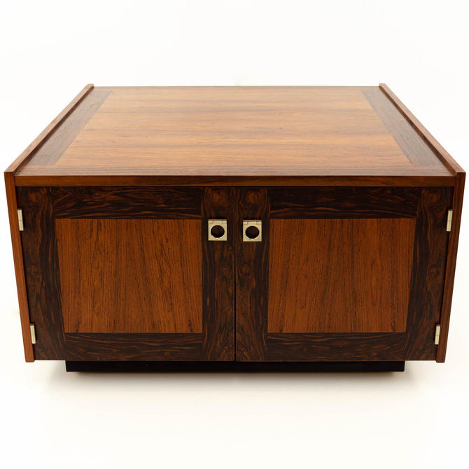 Bornholm Danish Rosewood Mid Century Storage Square Coffee Side End Table - mcm by ModernHill