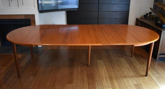 """Large 106.5"""" teak extendable dining table by Moreddi for Skovmand & Anderson by MidCenturyClever"""