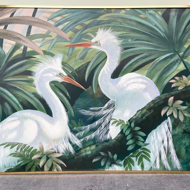 Pair of Herons Original Art