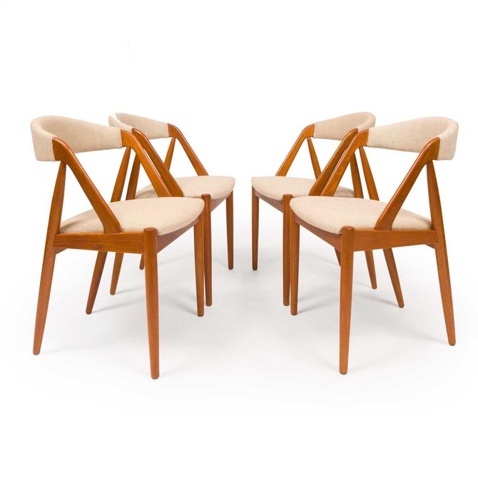 Vintage Kai Kristensen Model 31 Dining Chairs 1906s, Set of Four by MCMSanFrancisco