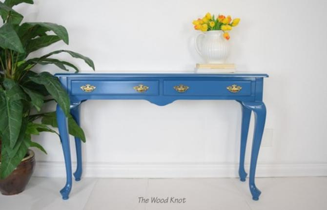 The Bombay Company Blue Entryway Table