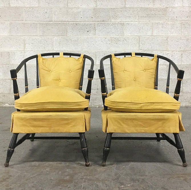 LOCAL PICKUP ONLY ----------- Vintage Rousseau Brothers Chairs by RetrospectVintage215