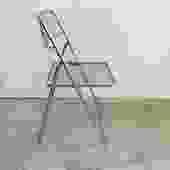 Chrome Grid Folding Chair by Niels Gammelgaard for IKEA, 1979