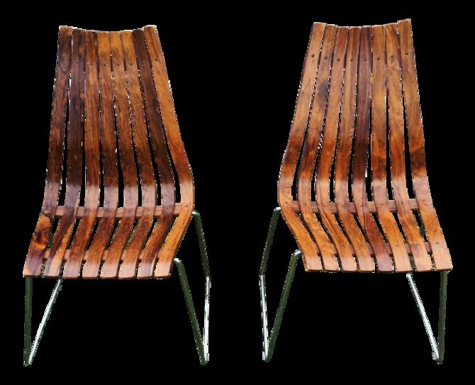 Hans Brattrud Rosewood 'Scandia' Chairs- A Pair