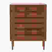 danish modern chest of drawers