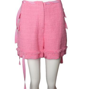 MSGM-NWT Tweed Ribbon Detail Shorts, Multiple Sizes & Colors
