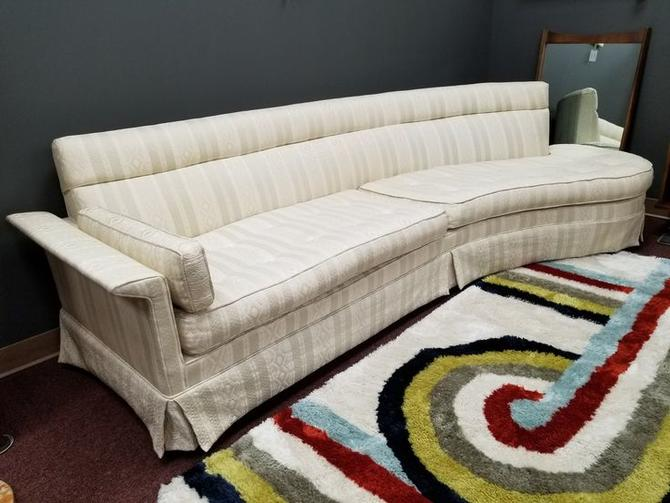 Mid-Century Modern open arm curved sofa