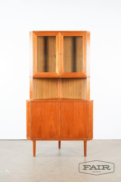 Danish teak corner cabinet