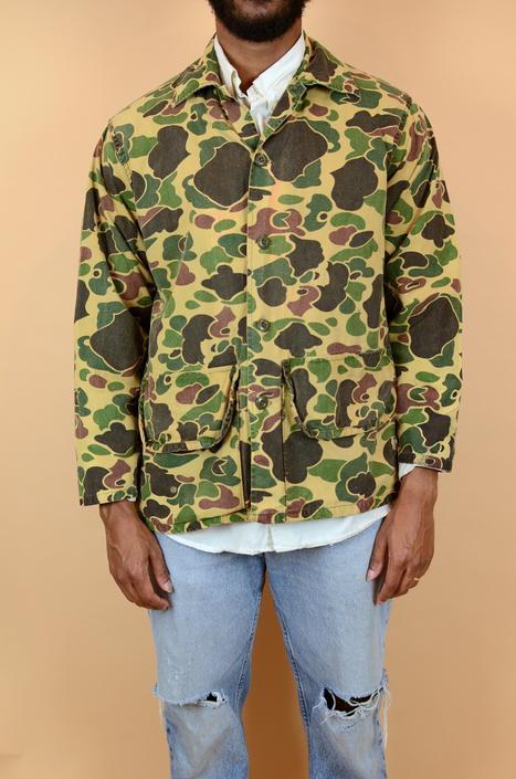 Vintage Duck Camo Shirt Jacket Medium 60s 70s 80s 90s by MAWSUPPLY
