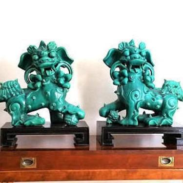 Pair Large Porcelain Fu Dog Statues by ModernPicks