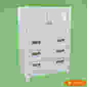 White Rattan Fretwork Cabinet