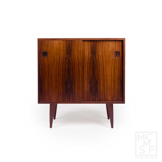 Vintage Danish Mid-Century Rosewood 2-Door Media Cabinet by MCMSanFrancisco