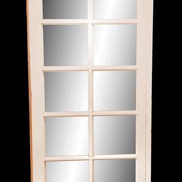 Vintage 10 Lite White Wood French Door