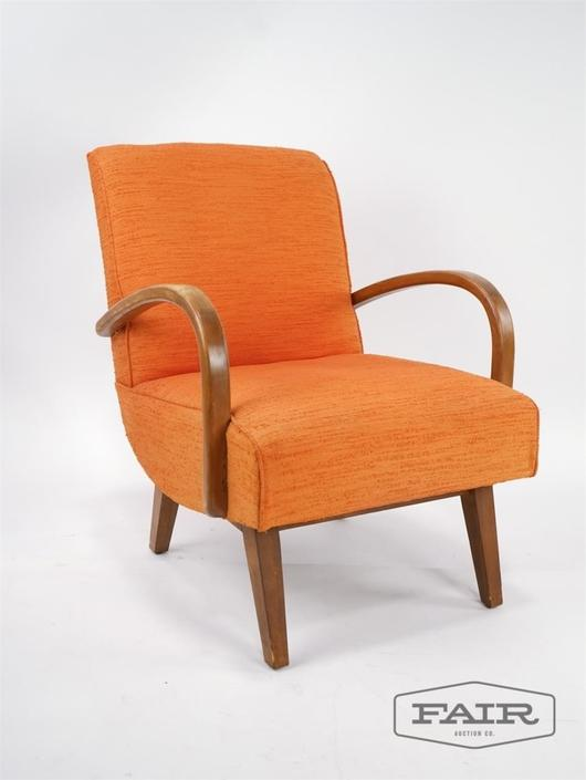 Orange Platform Rocker Chair