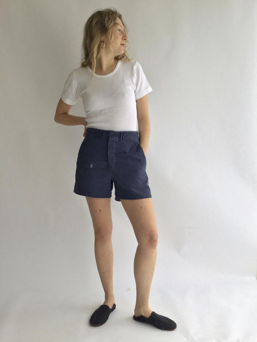 Vintage Indigo Blue Workwear Shorts | 40s Military | Metal buttons | French  Workwear style | 25 26 27 28 29 30 31 32 33 34 Waist by RAWSONCHICAGO