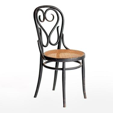 Single Bentwood Cane Chair by Salvatore Leone by ABTModern