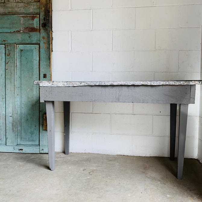 Small Farm Table | Zinc Table | Galvanized Table | Kitchen Table | Breakfast Nook | Dining Room Table | Garden Table | Workspace | Craft by PiccadillyPrairie