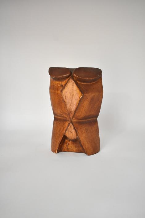 Tiki Wood Totem Statue | Carved Wood Face | Boho Eclectic | Shelf Decor | 60s 70s Porch Decor | Office Decor | Ethnic Art | Vintage Tiki by LostandFoundHandwrks