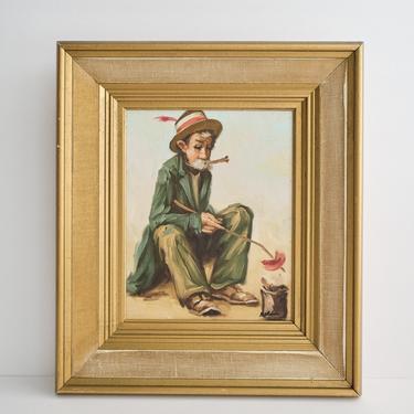 Vintage Original Framed Oil Painting by ShopLantanaLane