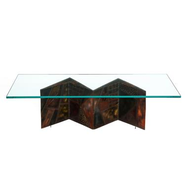 Paul Evans Artisan PE-11 Coffee Table 1974 (Signed And Dated)