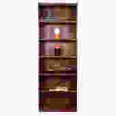 1950'S Mid Century Walnut Compact Tall Bookcase