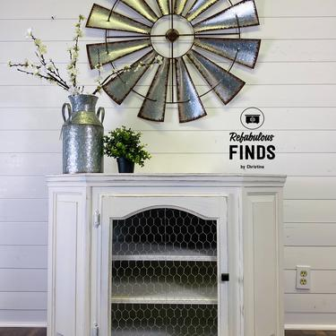 Gorgeous Farmhouse Corner Cabinet by reFabulousFindsCF