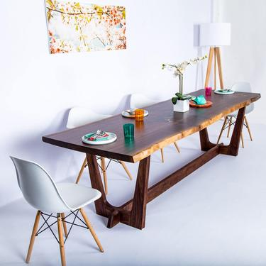 """Walnut Slab Dining Table """"The Prima"""" by moderncre8ve"""