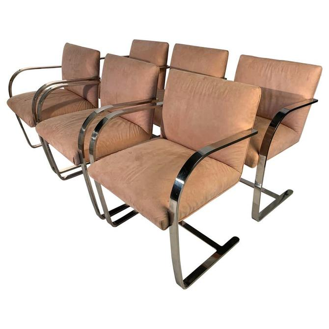 6 Mies van der Rohe Cantilever Brno Dining Chairs, circa 1970