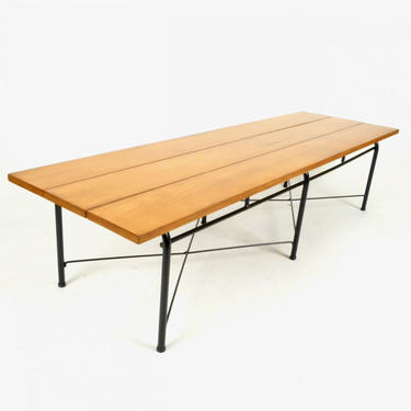 Maple Bench / Table On Steel Base