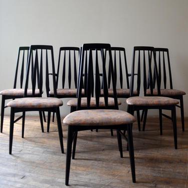 Set of (8) MCM Niels Koefoed Eva High-Back Danish Dining Chairs by RLChicago
