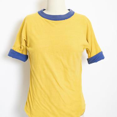 1970s Reversible Tee Shirt Cotton S / XS by dejavintageboutique