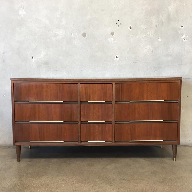 Mid Century Modern Nine Drawer Dresser