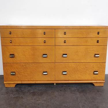 Vintage Birdseye Maple Burl Dresser by United Furniture by IridiumInteriors
