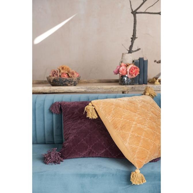 Velvet Tassel Pillow, multiple styles