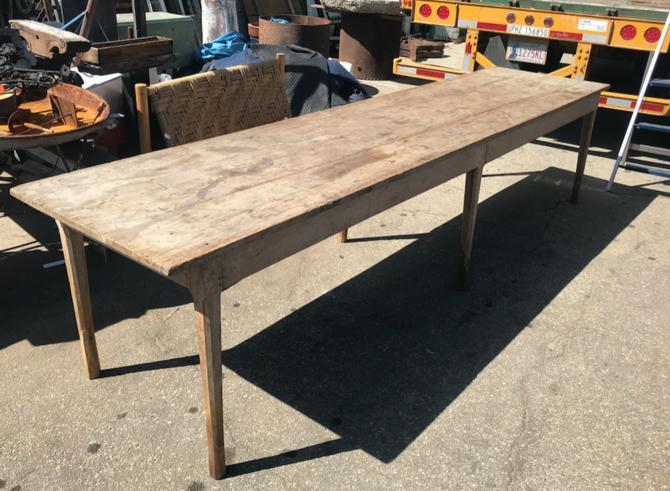 Long Vintage Farm Table